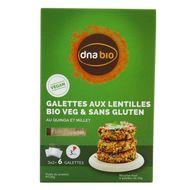 8057741380030 - DNAbio - Préparation Galettes bio Quinoa Lentilles Corail