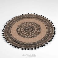 3574387904031 - Douceur D Interieur - Set de table en jute Renata Noir