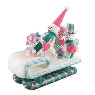 3526780905931 - Codico - Famille bonhomme de neige en traineau
