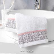 3574388012032 - Douceur D Interieur - 2 gants de toilette Belina Blanc