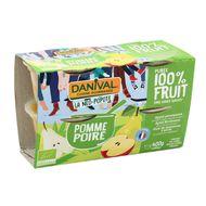 3431590013632 - Danival - Pomme Poire bio sans sucres ajoutés