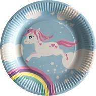 3760270202333 - Dyna Party - 6 Assiettes en carton Licorne