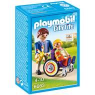 4008789066633 - PLAYMOBIL® City Life - Enfant avec fauteuil roulant et papa