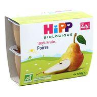 4062300126633 - Hipp - Coupelles poire bio, dès 4/6 mois