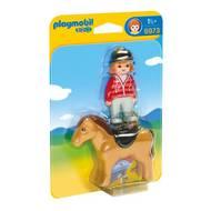 4008789069733 - PLAYMOBIL® 1.2.3 - Cavalière avec cheval