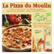 3273640001134 - La Pizza du Moulin - Pizza Légumes cuisinés Bio cuite au feu de bois- Aubergines, courgettes, poivrons, oignons