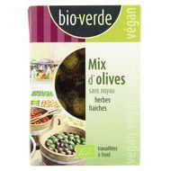4000915102734 - BioVerde - Mix d'olives bio sans noyaux aux herbes fraiches