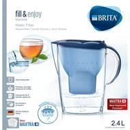 4006387076634 - BRITA - Carafe filtrante Marella bleu + 1 cartouche MAXTRA+