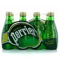 Perrier - Eau gazeuse minérale naturelle, bouteille en verre