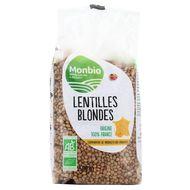 3322693000936 - Monbio - Lentilles blondes bio Origine France