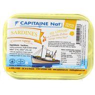 3522920001136 - Capitaine Nat - Sardines au citron et huile d'olive bio