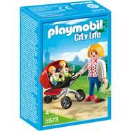 4008789055736 - PLAYMOBIL® City Life - Maman avec jumeaux et landau