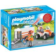 4008789700537 - PLAYMOBIL® City Life - Quad et remorque de secours