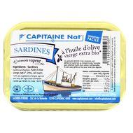 3522920001037 - Capitaine Nat - Sardines à l'huile d'olive vierge extra bio