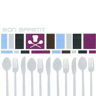 Serviettes papier Bon appétit lilac ,Paperproducts Design,