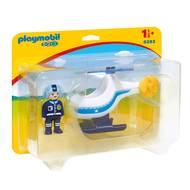 4008789093837 - PLAYMOBIL® 1.2.3 - Hélicoptère de police