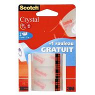 4046719376537 - Scotch - 3 Rubans adhésifs crystal transparent 15 m x 19 mm