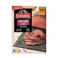 3181238976637 - Charal - Pastrami boeuf tranché aux épices