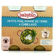 3288131510538 - Babybio - Petits pois, pommes de terre et cabillaud, dès 8 mois, bio