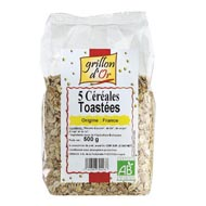 3421557701238 - Grillon Or - Flocons 5 céréales toastées, bio