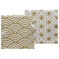 8719323523838 - Tokyo Design Studio - Serviettes en papier Nippon White Gold 14700