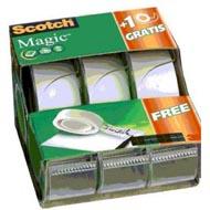 0051131674738 - Scotch - 3 Dévidoirs rubans adhésifs invisible 7,5 m x 19 mm