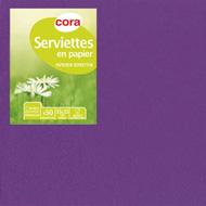 3257983057638 - Cora - Serviettes prune 2 plis 33x33cm