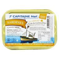 3522920001839 - Capitaine Nat - Sardines à l'huile de tournesol bio et citron bio