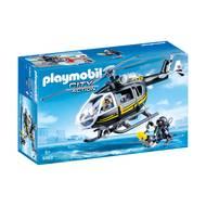 4008789093639 - PLAYMOBIL® City Action - Hélicoptère et policiers d'élite