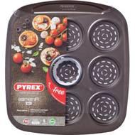 3426470275439 - Pyrex - Mini pizza 9 cavités avec emporte pièce métal Asimetria