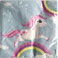 3760270202340 - Dyna Party - Serviettes en papier Licorne 33x33 cm