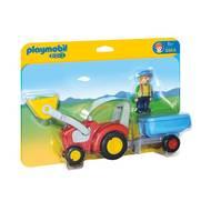 4008789069641 - PLAYMOBIL® 1.2.3 - Fermier avec tracteur et remorque