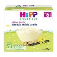 4062300032842 - Hipp - Délices de Lait - Semoule au Lait Vanille bio, dès 6 mois