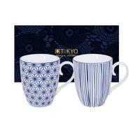 8719323533042 - Tokyo Design - Set 2 Mugs Nippon Blue Star & line