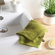 3574388009742 - Douceur D Interieur - 2 gants de toilette Eponge Pistache