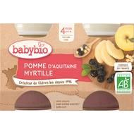 3288131510743 - Babybio - Mes Fruits - Pomme myrtille bio, dès 4 mois