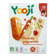 3760234500444 - Yooji - Mes petits Bâtonnets Bio- Recette paysanne quinoa et touche de Comté dès 12 mois