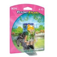 4008789090744 - PLAYMOBIL® Playmo-Friends - Soigneuse avec bébé gorille