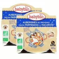 2050000312144 - Babybio - Aubergines de Provence façon Parmigiana et macaroni bio, dès 15 mois