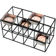 3661443545144 - Incidence - Photophore cage rectangulaire 4 bougies Noir