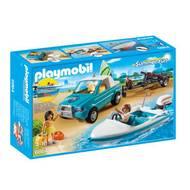 4008789068644 - PLAYMOBIL® Summer Fun - Voiture avec bateau et moteur submersible