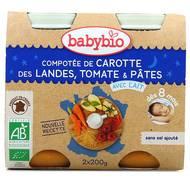3288131510545 - Babybio - Compotée de carotte des Landes, tomate et pâtes Bio, dès 8 mois