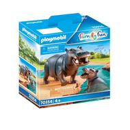 4008789703545 - PLAYMOBIL® Family Fun - Hippopotame et son petit