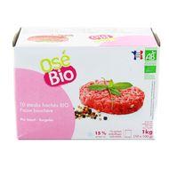 3760099537845 - Osé Bio - 10 Steak haché bio façon bouchère 15% de MG
