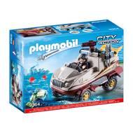 4008789093646 - PLAYMOBIL® City Action - Véhicule amphibie et bandit