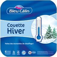 3153633467546 - Bleu calin - Couette microfibre hiver  2 x 250 g/m²
