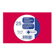 Clairefontaine Cartes De Visite Rouge 82 X 128 Mm
