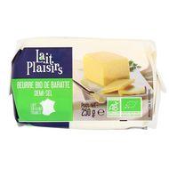 3760099532147 - Lait Plaisirs - Beurre de Baratte 1/2 Sel, Bio