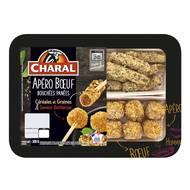3181238962647 - Charal - Apéro boeuf bouchées panées céréales et graines & saveur barbecue