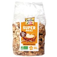 3421557107047 - Grillon Or - Super muesli 52% de fruits et graines, bio